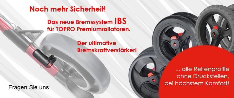 Topro Rollatoren - jetzt mit innenliegendem Bremssystem IBS