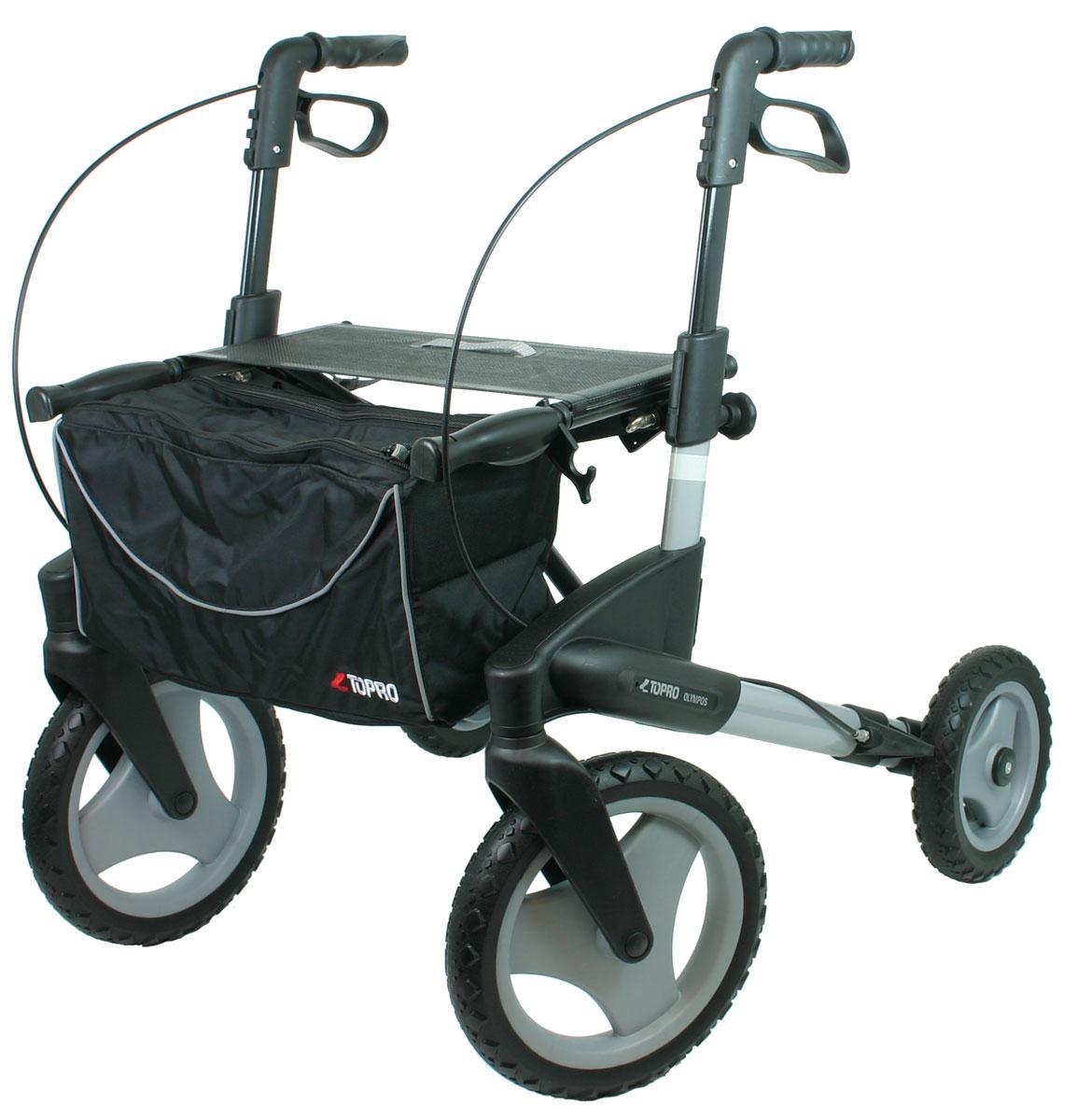 Rollatoren : Outdoor Rollator Topro Olympos S, silber mit Offroad-Rädern