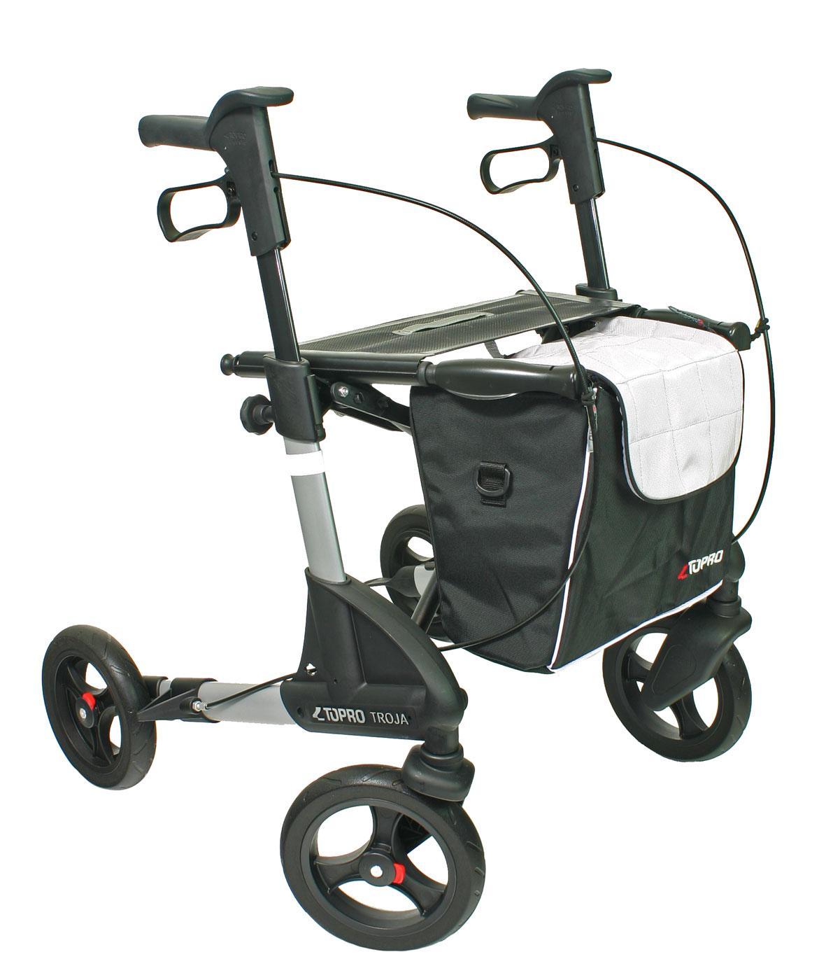 02ea238bc24010 ... Rollator Topro Troja 2G Premium mit geschlossener Einkaufstasche ...