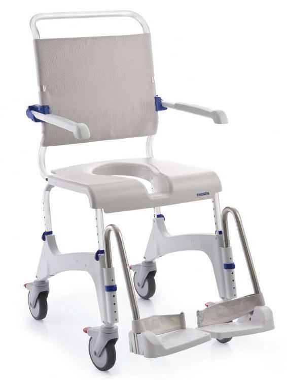 Toilettenrollstuhl dusch und toilettenrollstuhl aquatec for Chaise de baignoire pour handicape